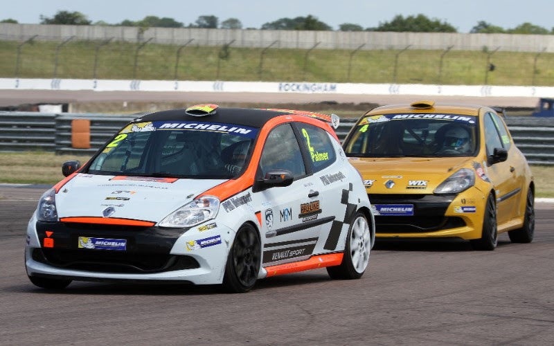 PALMER FIGHTS TO TRIUMPHANT ROCKINGHAM MICHELIN CLIO CUP SERIES DOUBLE