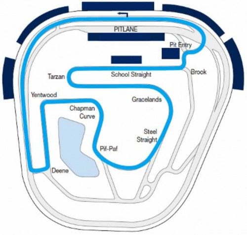 Rockingham Motor Speedway race map